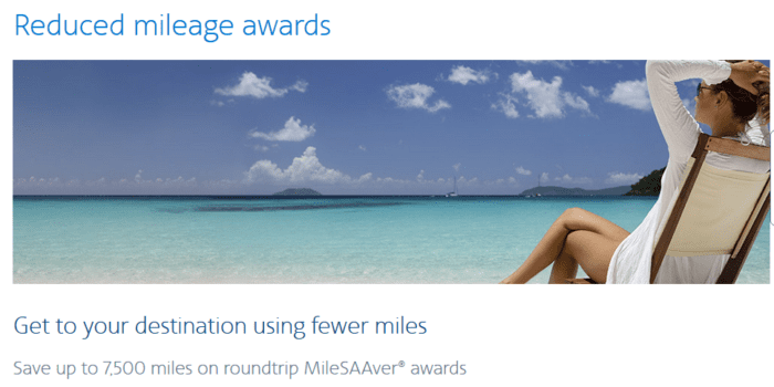 Reduced award mileage