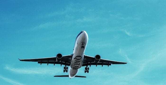 Underneath Qatar Airways plane