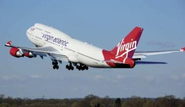 Virgin Atlantic airplane takeoff