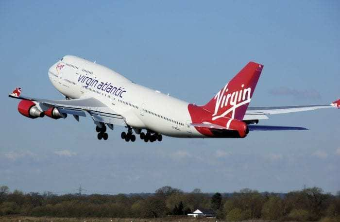 Virgin Atlantic airplane takeoff