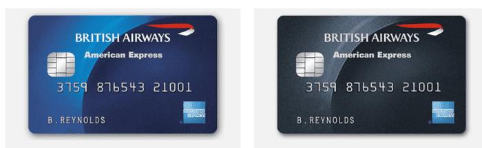 BA Amex cards