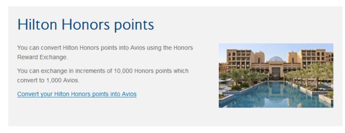 Convert Hilton points