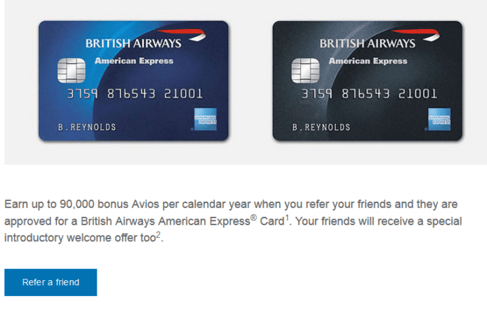 BA Refer a Friend scheme