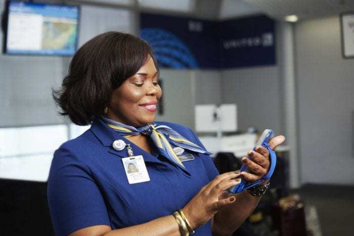 United Airlines customer service rep