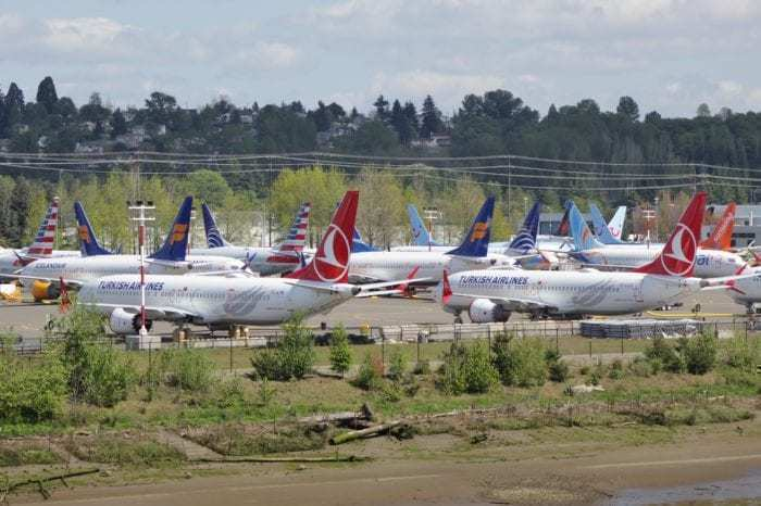 737 MAX grounded aircraft