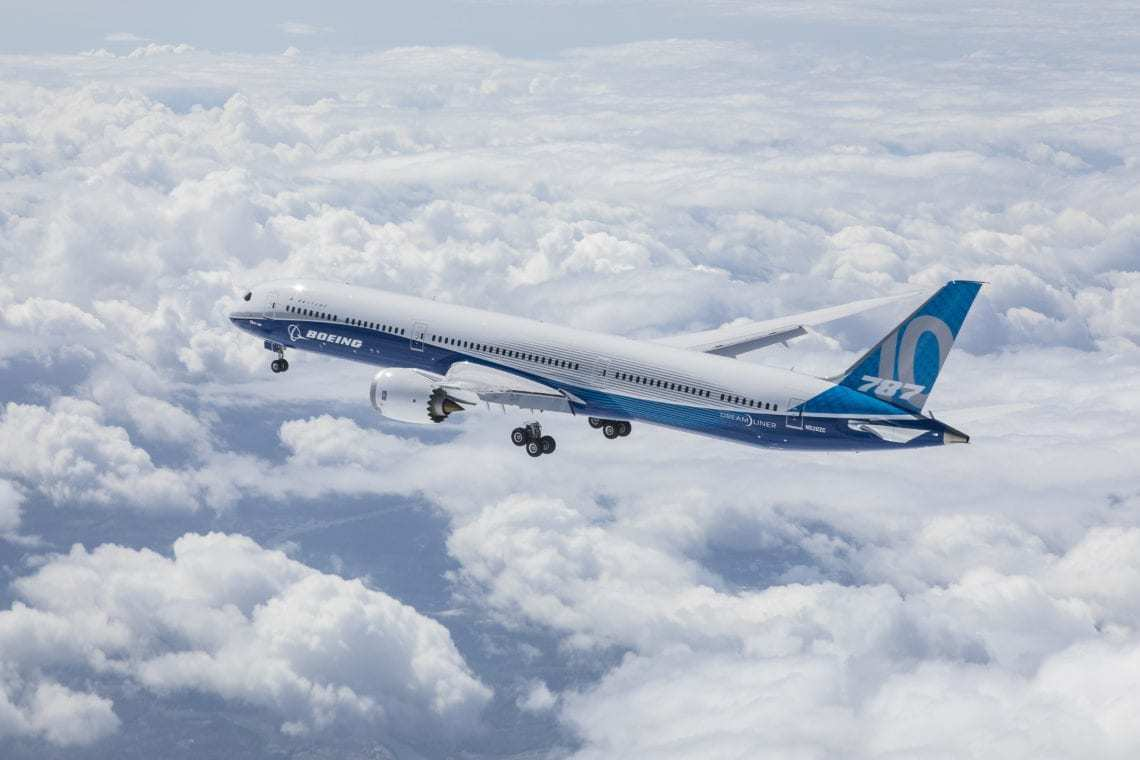 The Boeing 787-10 Dreamliner's First Flight. Image Source