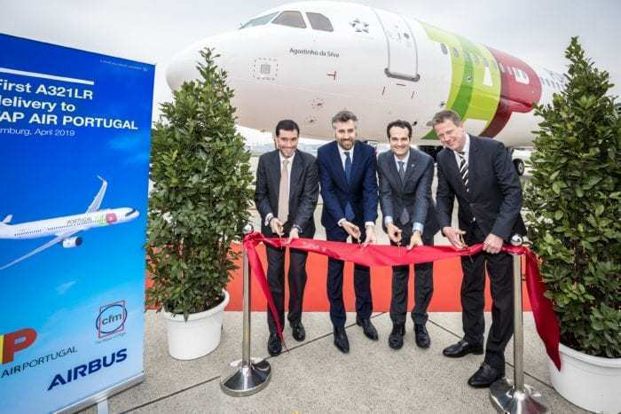A321LR TAP Delivery ribbon cutting