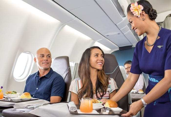 Hawaiian Airlines A330 drinks service