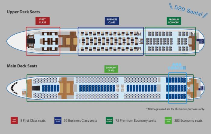 ANA A380 seat map