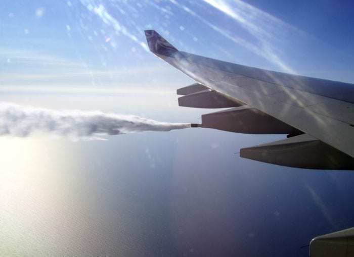 Aircraft dumping fuel