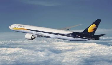 Jet Airways aircraft in-flight