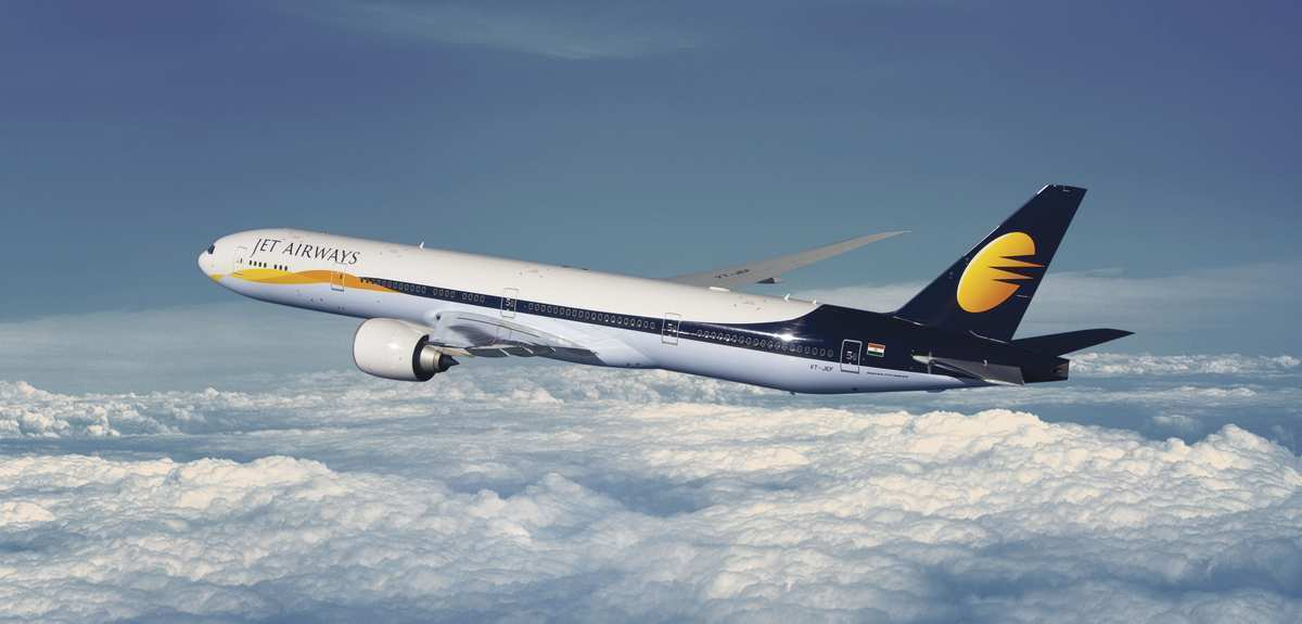 Jet Airways aircraft in-flight