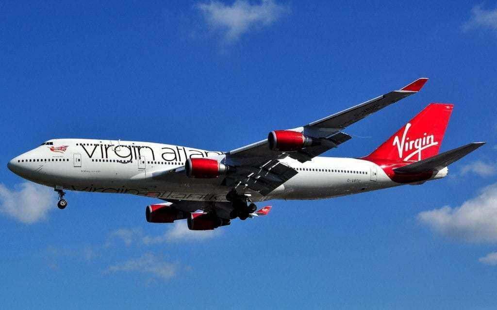 A Virgin Atlantic Boeing 747-400