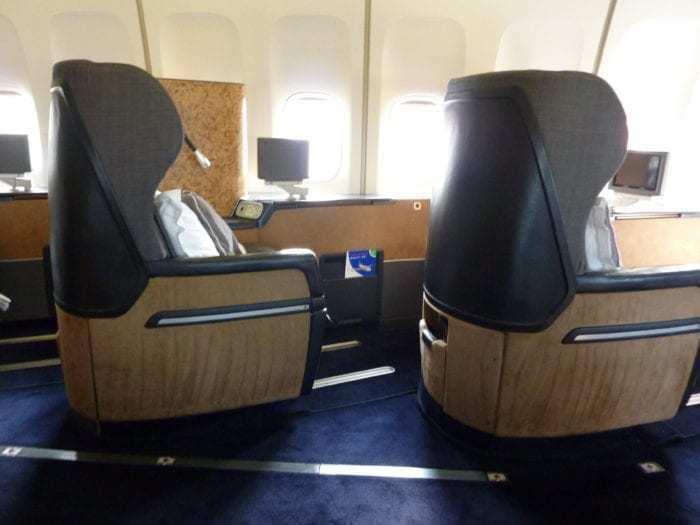 British Airways 747 First class