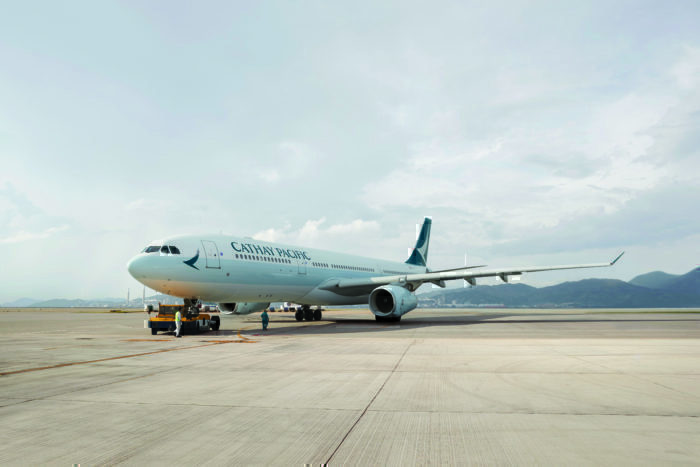A Cathay Pacific A330-300.