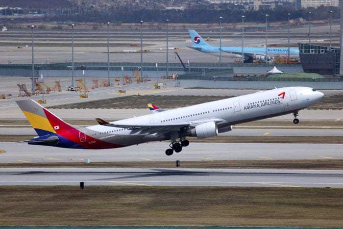 Asiana Airlines Airbus A330-323 at Seoul Incheon International Airport