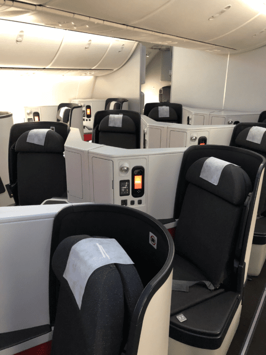 Avianca business class 787 Dreamliner