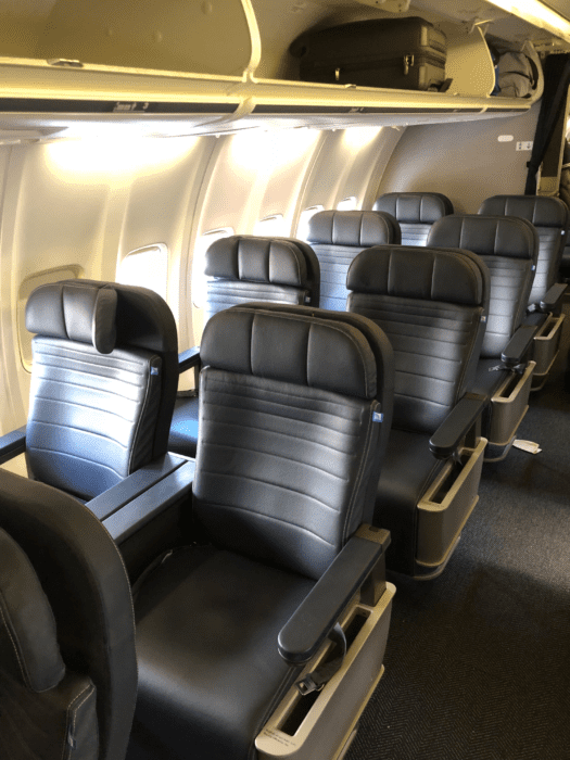 United Boeing 757-300 first class
