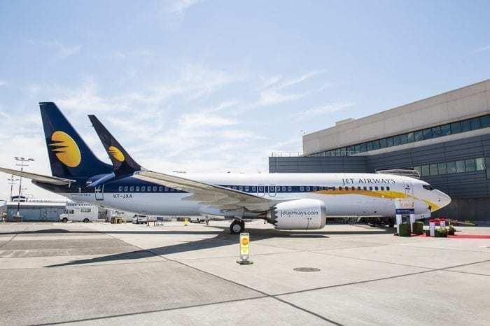 Jet airways parked