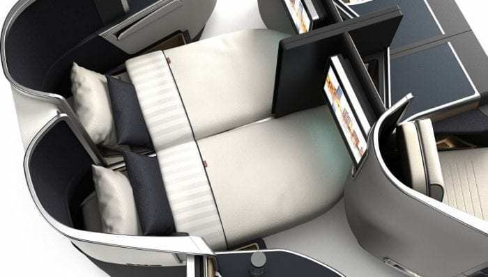 Optima Business Class Seat Bed View