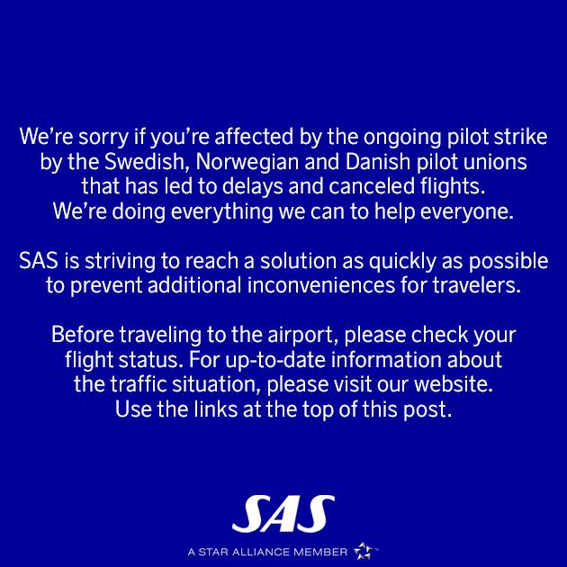 SAS announcement
