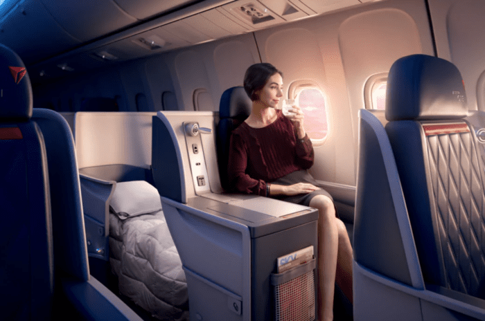 spend flying blue miles on Delta