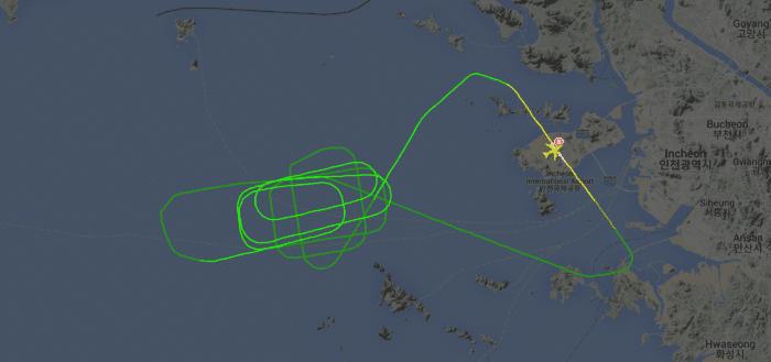 Flight tracker screenshot