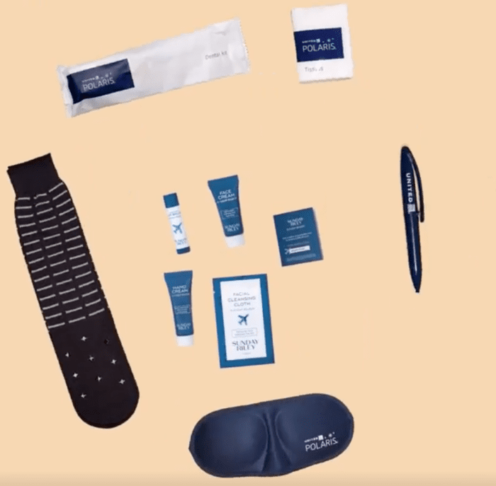 United polaris business class amenity kit