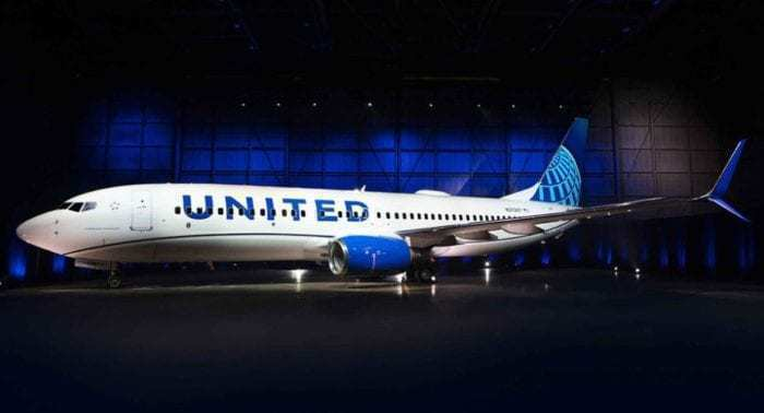 United Airlines' new livery