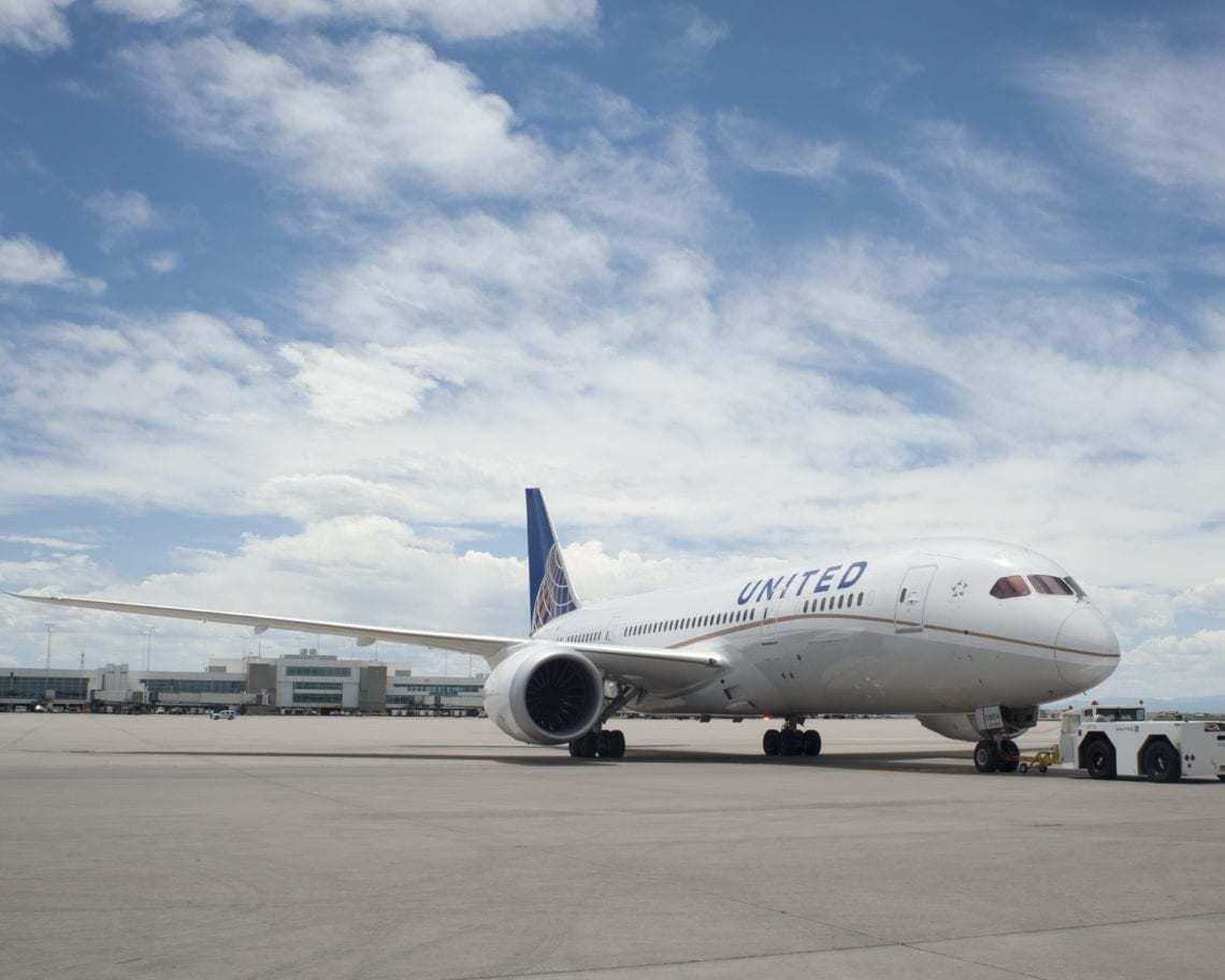 United Boeing 787 Dreamliner Denver