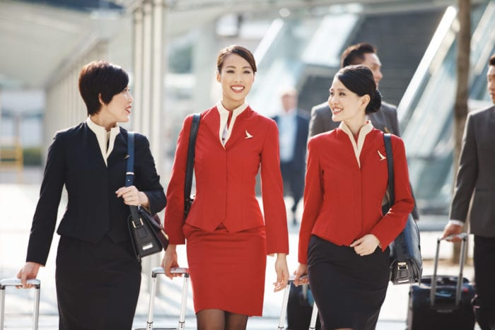 Cathay Pacific crew uniforms