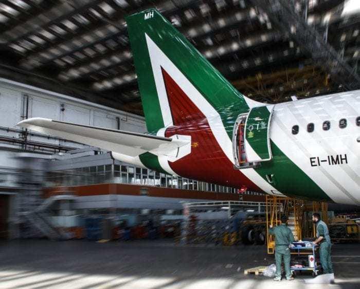 Alitalia 777 Tail