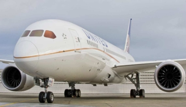 United Airlines Dreamliner aircraft