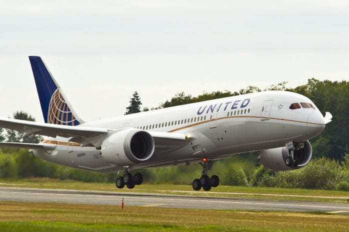 United Aircraft during takeoff