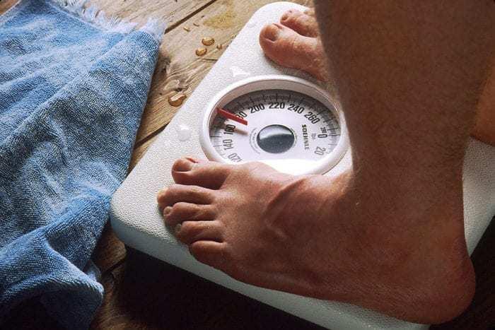 weighing passengers