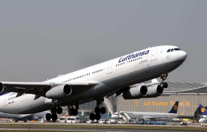 Lufthansa A340 Frankfurt to Dublin