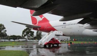 Qantas stairs