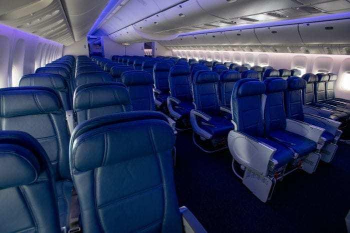 Main cabin on Delta's 777