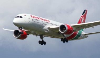 A Kenya Airways 787