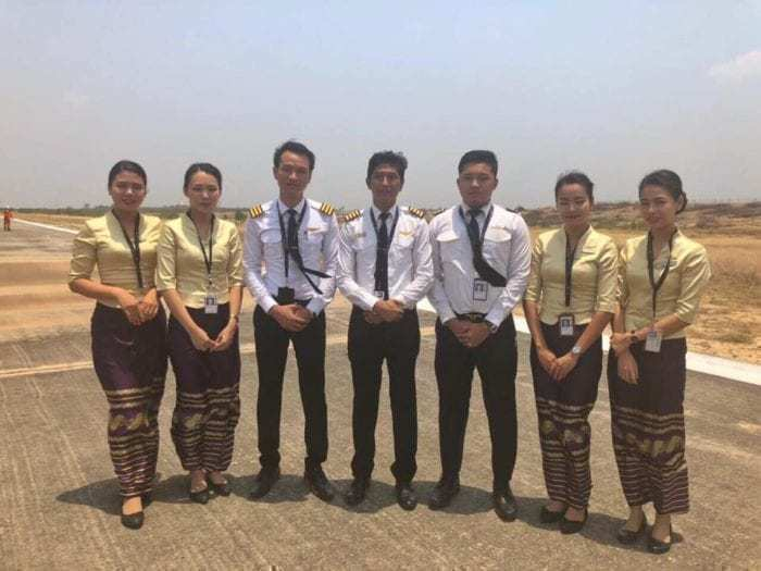 Myanmar National Airlines E190 Lands Without Nose Gear