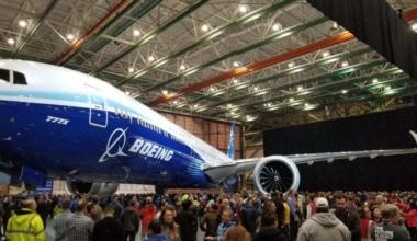 Boeing 777X test flight