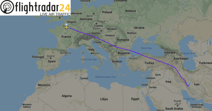 Air France emergency landing