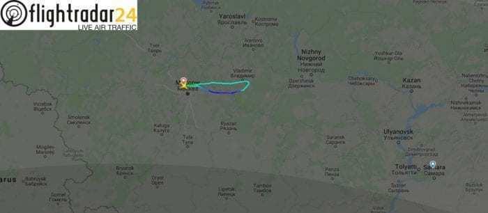 Aeroflot flight path