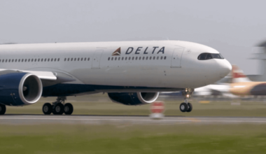 Delta A330neo taking off