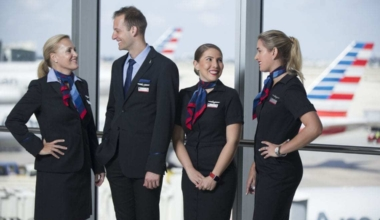 American Airlines' current uniform.