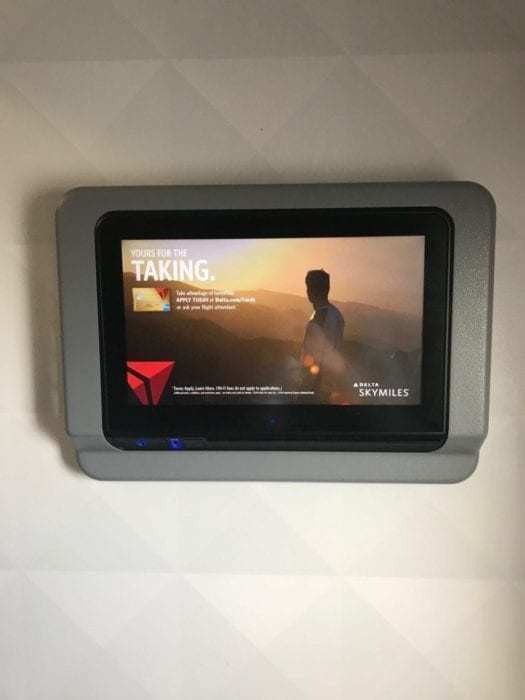 First Class entertainment monitor