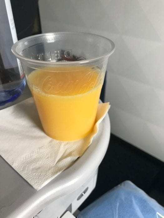 Pre-departure orange juice