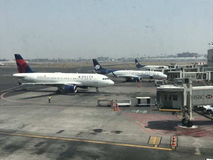 Delta and Aeromexico Planes Mexico City
