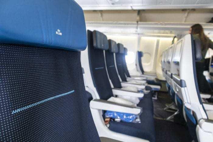 Empty KLM flight