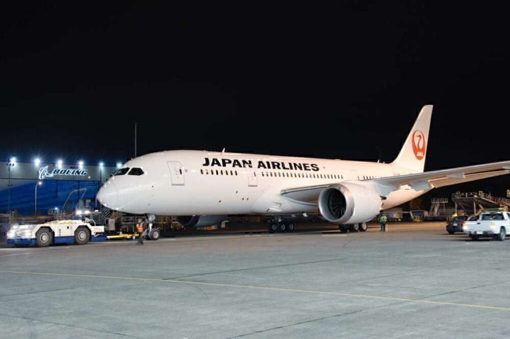 Japan airlines 2 787 from boeing